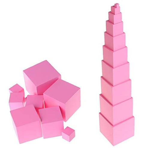 pink tower sensorial learning