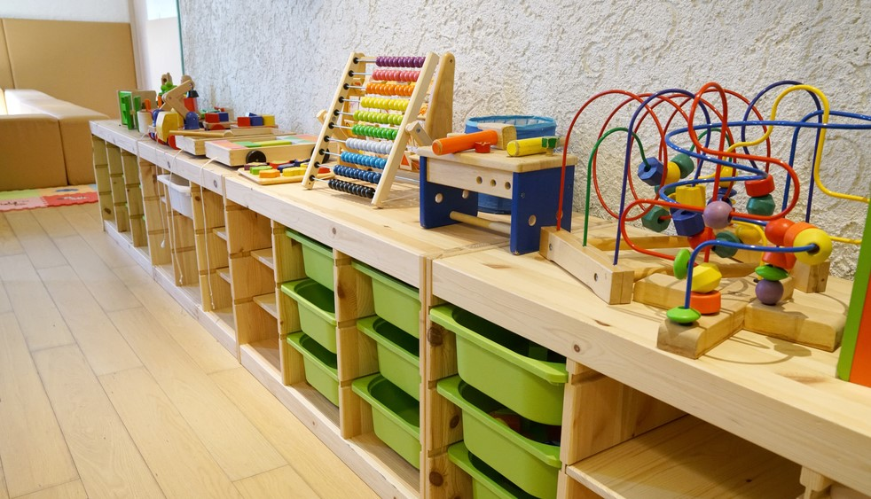 Montessori furniture helps a child development